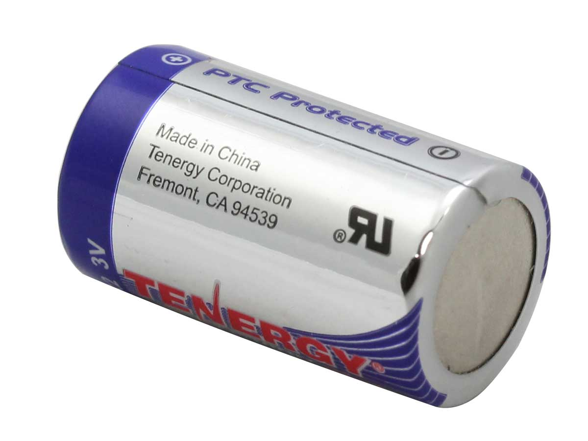 Tenergy CR2 Lithium Photo Battery rear view