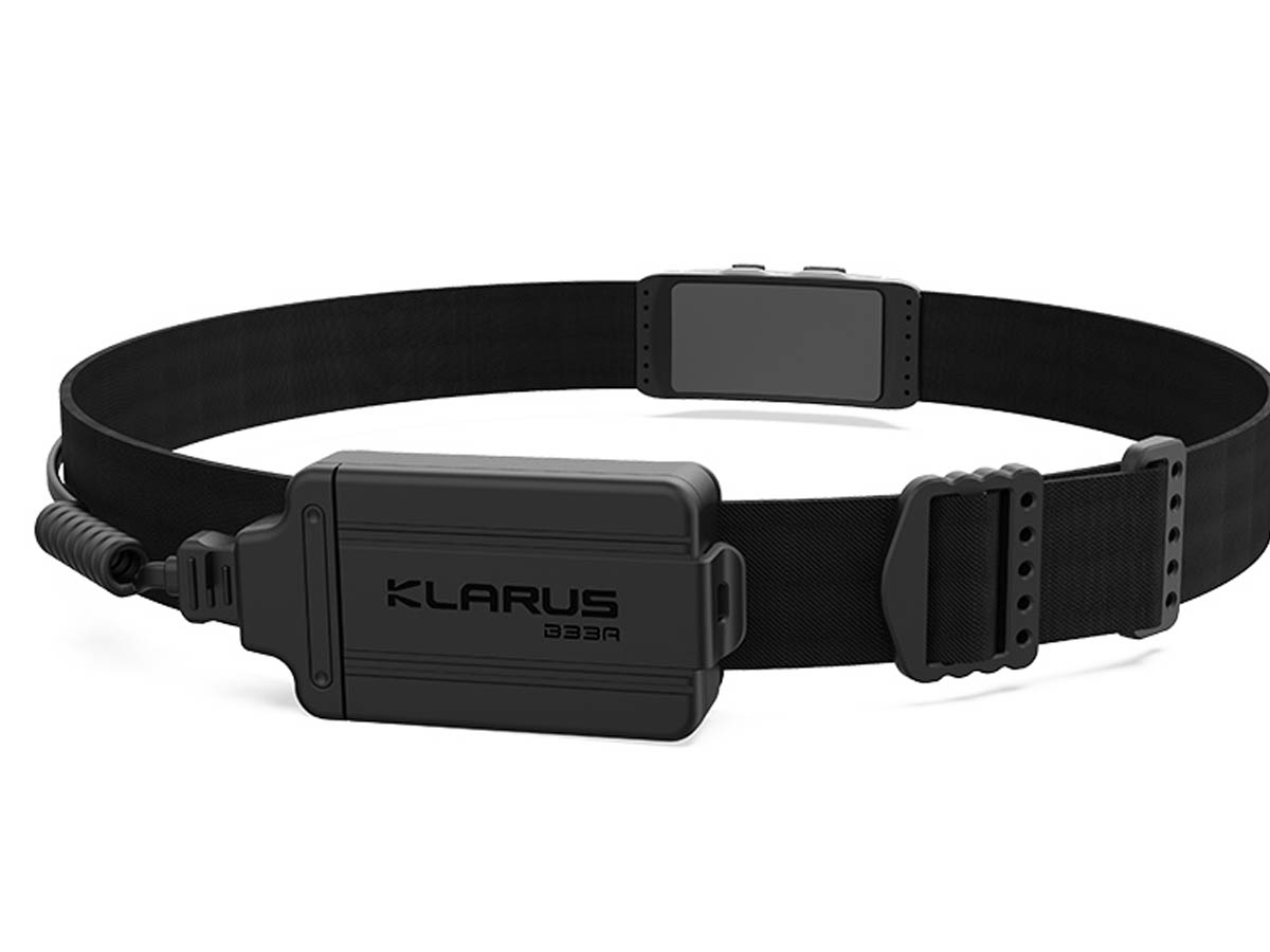Klarus HR1 Plus Black Running Headlamp Lightweight Battery Holder