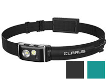 Klarus HR1 Pro Rechargeable Running Headlamp - CREE XP-G2 - 400 Lumens - Includes 1200mAh Li-ion Battery Pack - Black or Ocean Teal