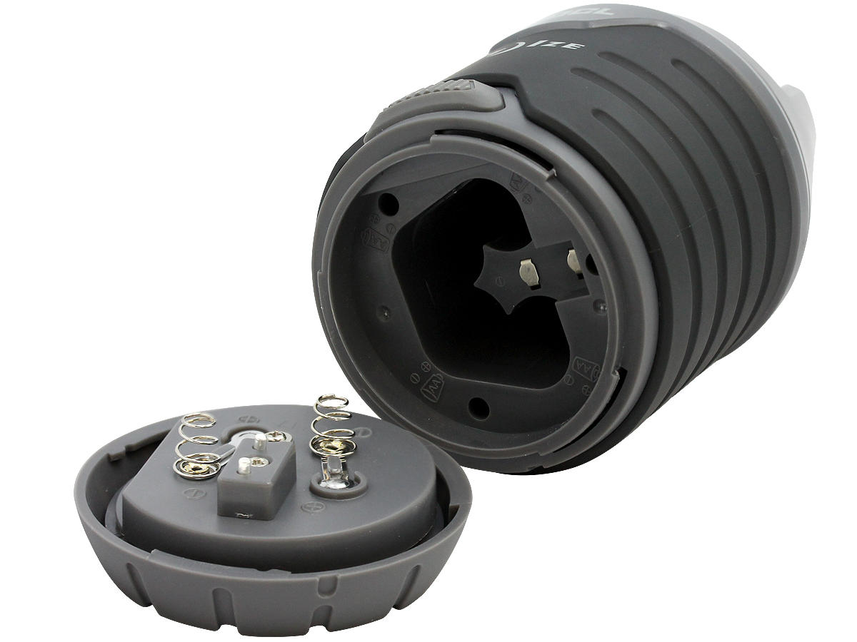 Battery Compartment of the Nite Ize Radiant 200 2-in-1 Collapsible LED Lantern