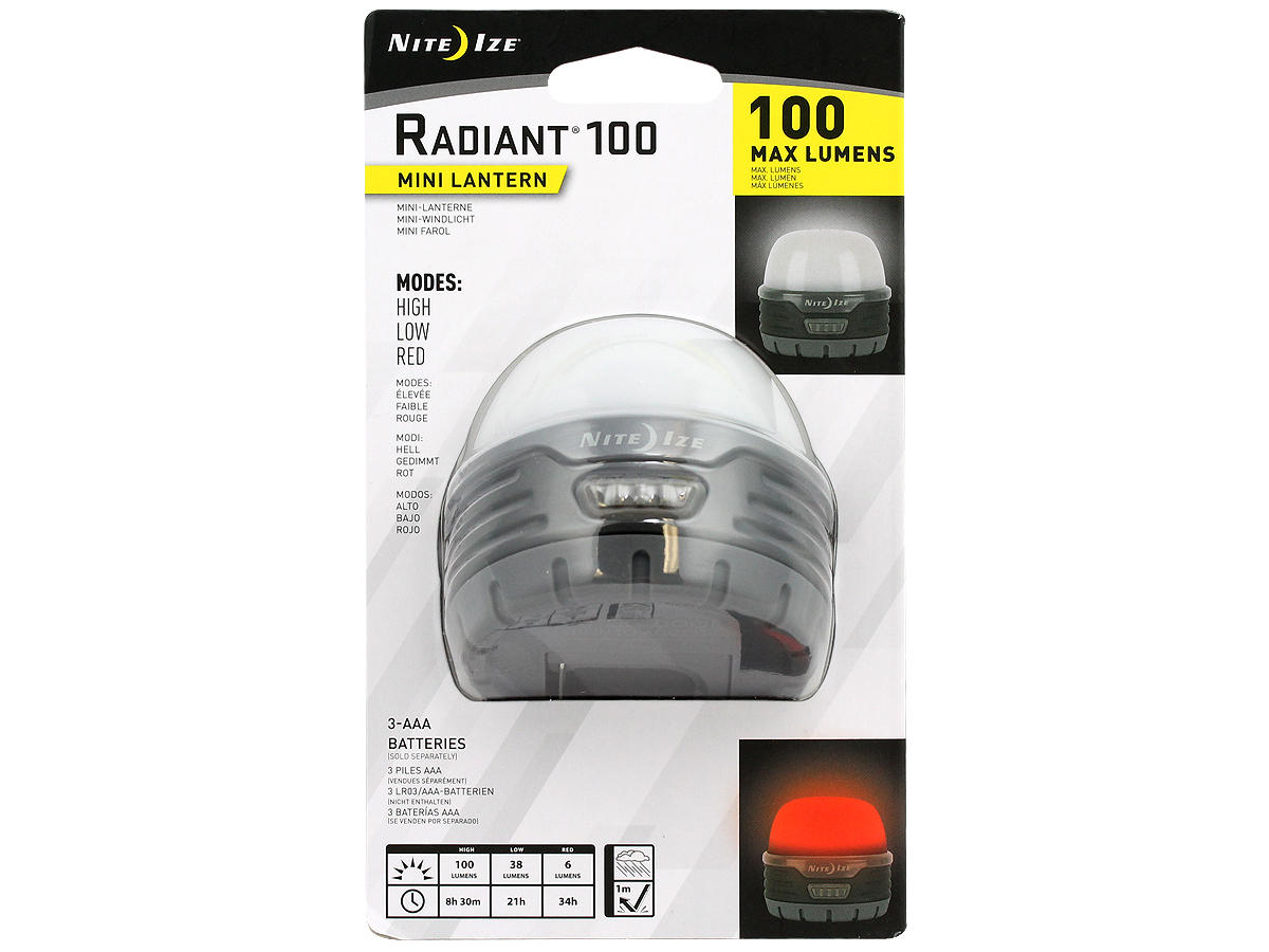 Package Shot of the Nite Ize Radiant 100 Mini LED Lantern
