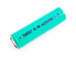 Tenergy 10306-1 AA 2000mAh 1.2V Nickel Metal Hydride (NiMH) Flat Top Battery with or without Tabs - Bulk