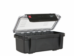 Underwater Kinetics Weatherproof 307 UltraBox - Black with Clear View Lid - Padded Liner (08454 08464)