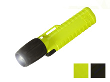 Underwater Kinetics UK4AA-AS2ZM 14502 eLED Zoom Hands-Free Work Light with Front Switch - 77 Lumens - Class I Div 2 - Uses 4 x AAs - Black or Safety Yellow
