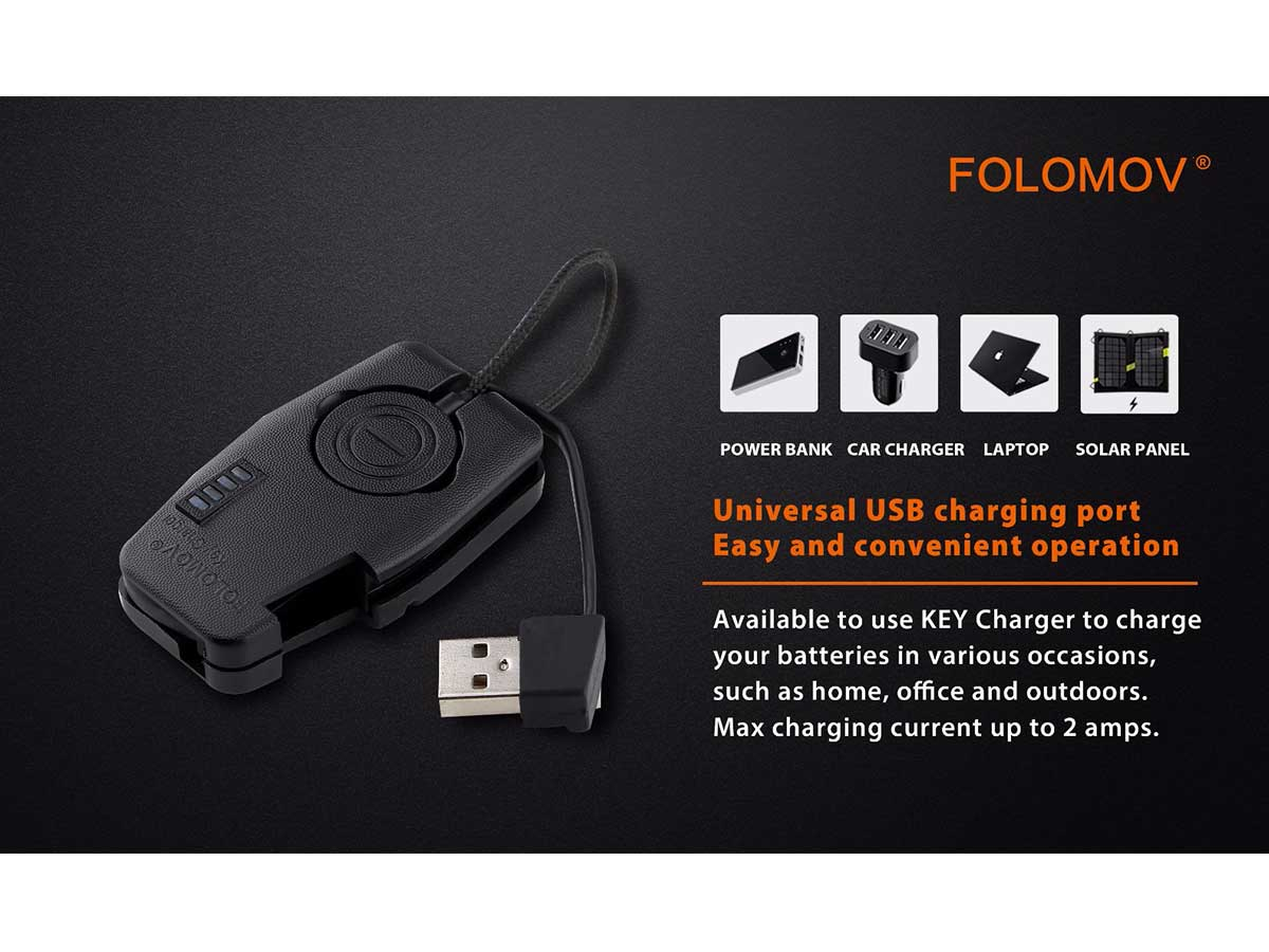 key charger manufacturer slide about compact size