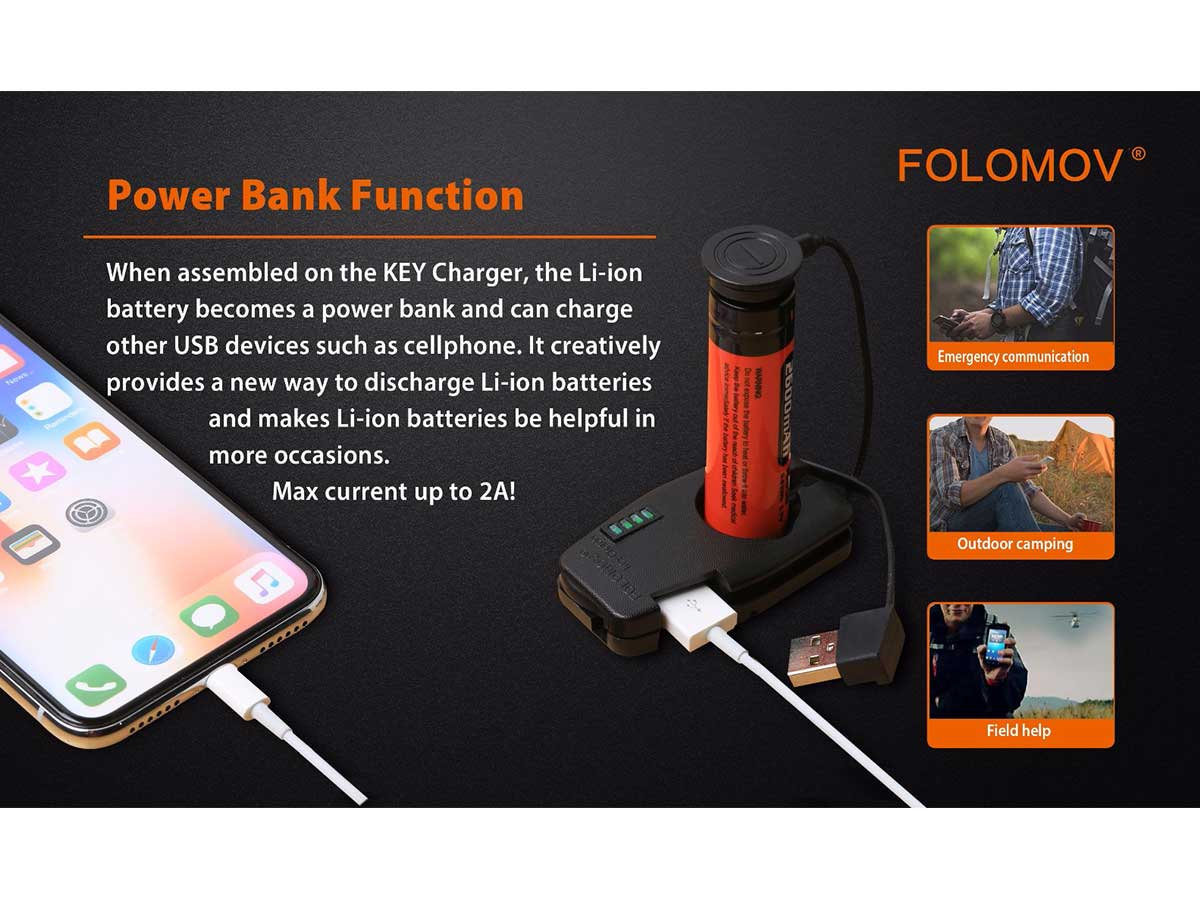 manufacturer slide about charging and discharging features