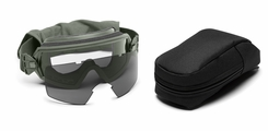 Smith Optics - Outside The Wire Goggles - Foliage Green Frames with Clear Lenses Installed - Gray Spare Lenses - Field Kit