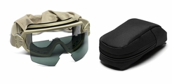 Smith Optics - Outside The Wire Goggles - Desert Tan Frames with Clear Lenses Installed - Gray Spare Lenses - Field Kit