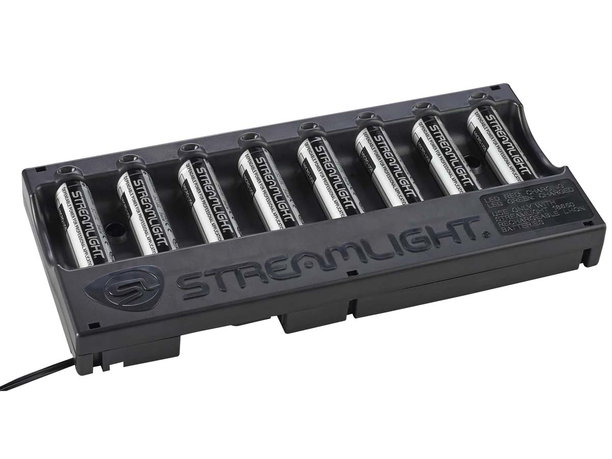 Streamlight 8-Bay 18650 Charger Kit with Batteries