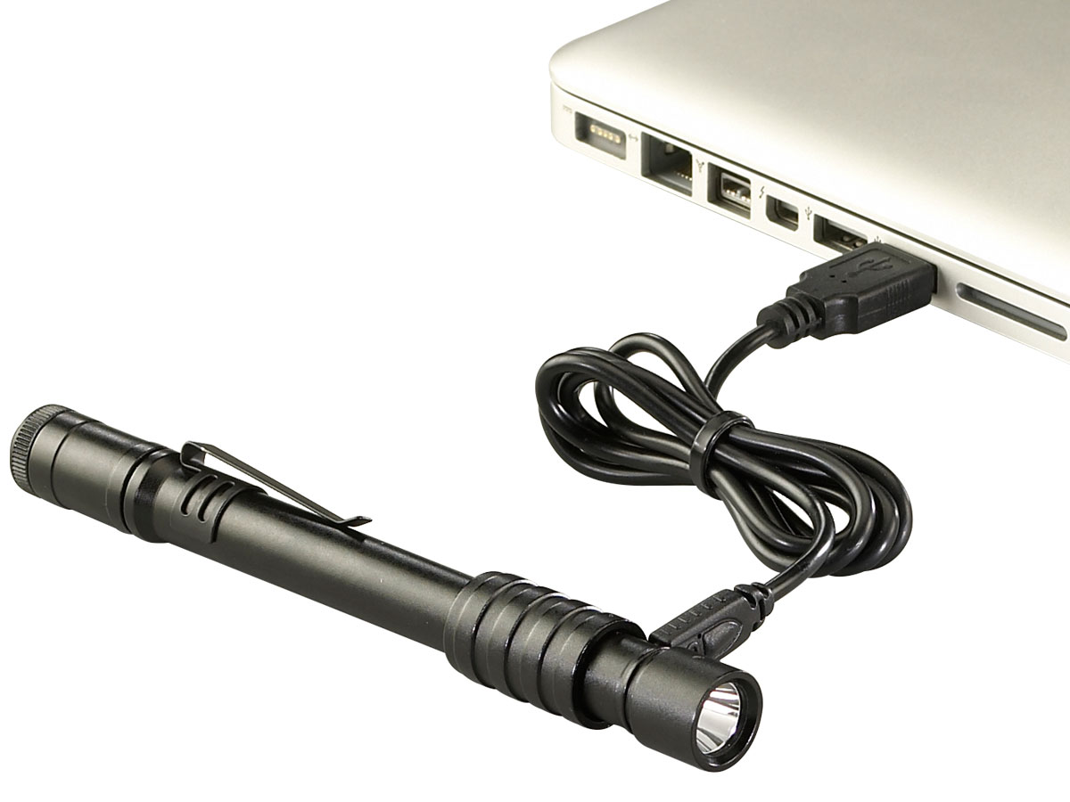 Charging Shot of the Streamlight Stylus Pro USB Rechargeable Penlight