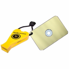 Ultimate Survival Technologies (Marine) StarFlash Floating Signal Mirror / JetScream Whistle Combo - 2 x 3-inch Signal Device - Yellow (20-611-300-06-M)