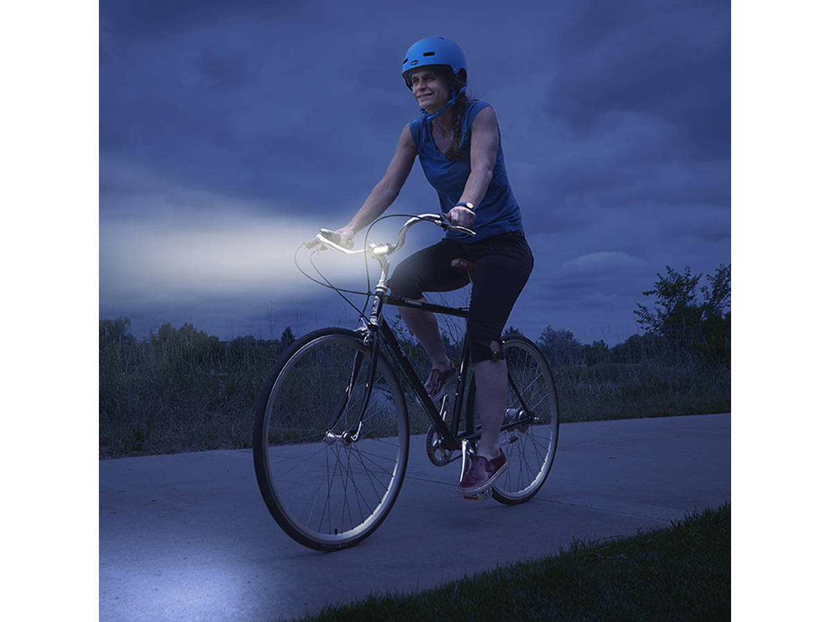 Shot of the Nite Ize Radiant 50 Bike Light In Use