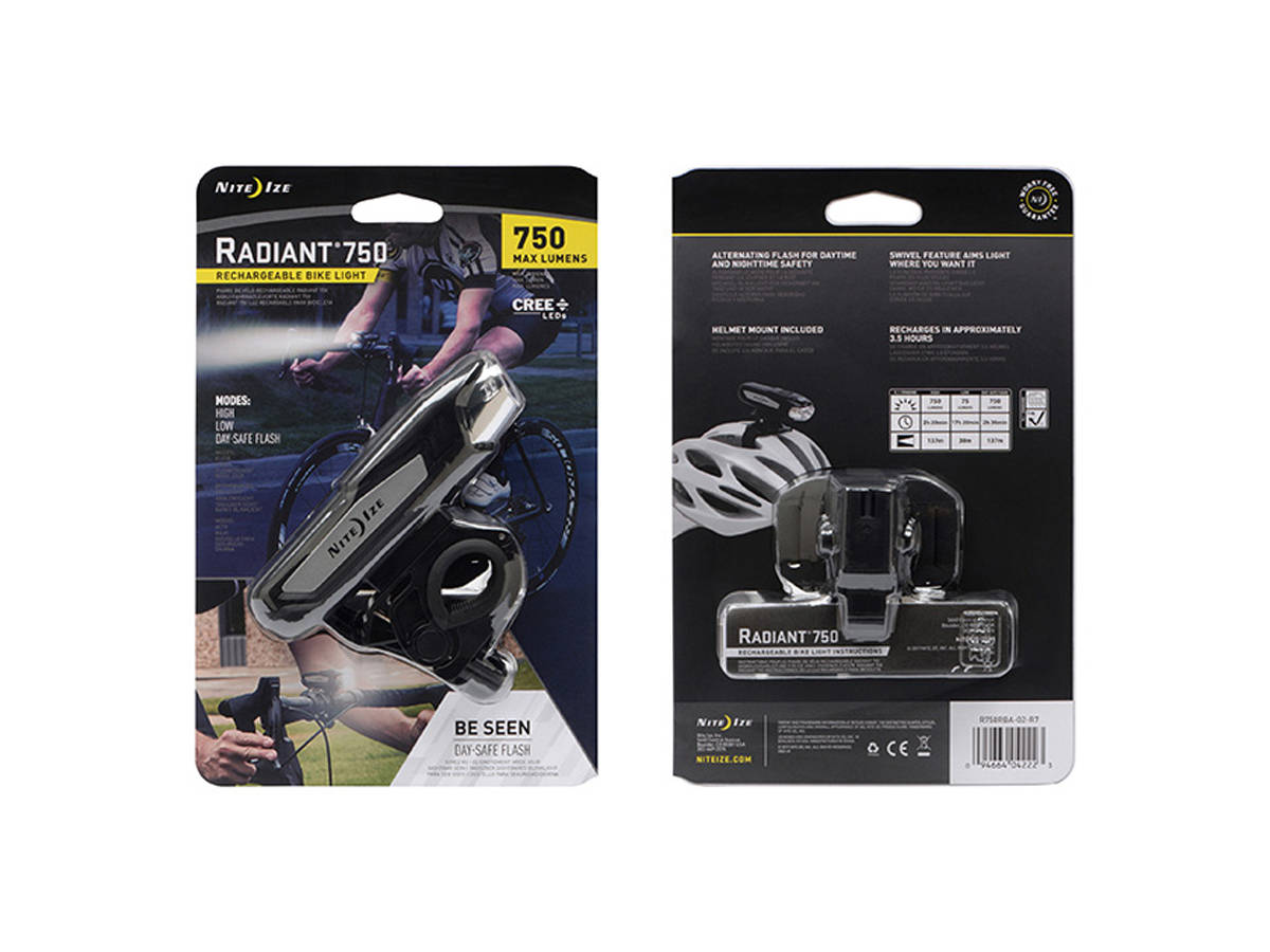 Package Shot of the Nite Ize Radiant 750 Bike Light