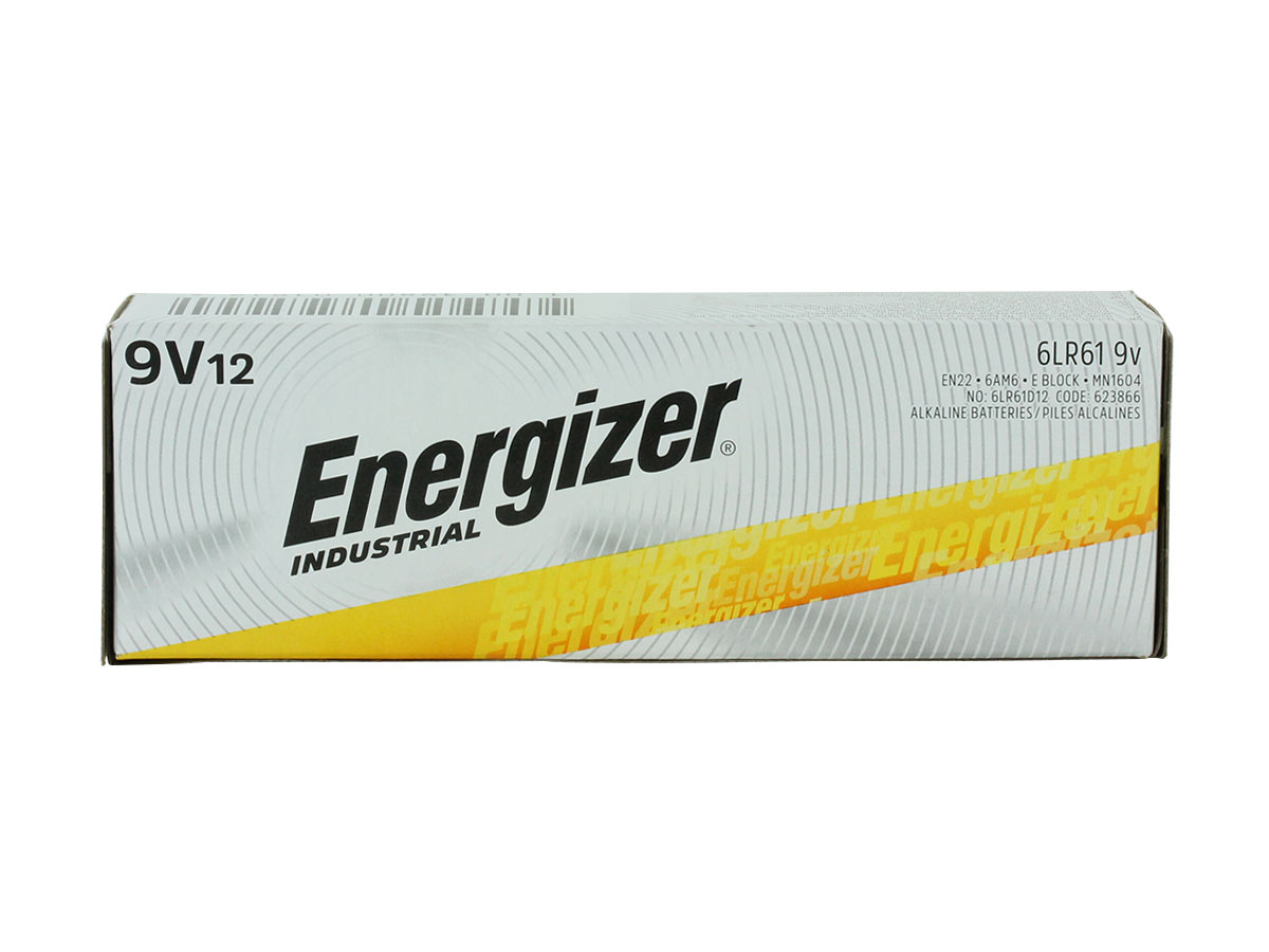 Energizer Industrial 9V 12 pack retail box