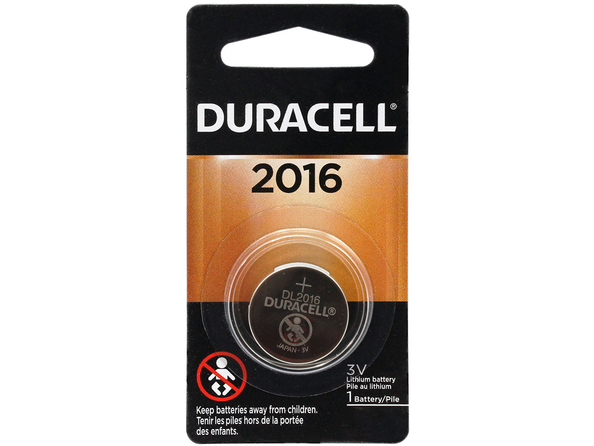 Retail Card of Duracell DL2016 Coin Cell Battery