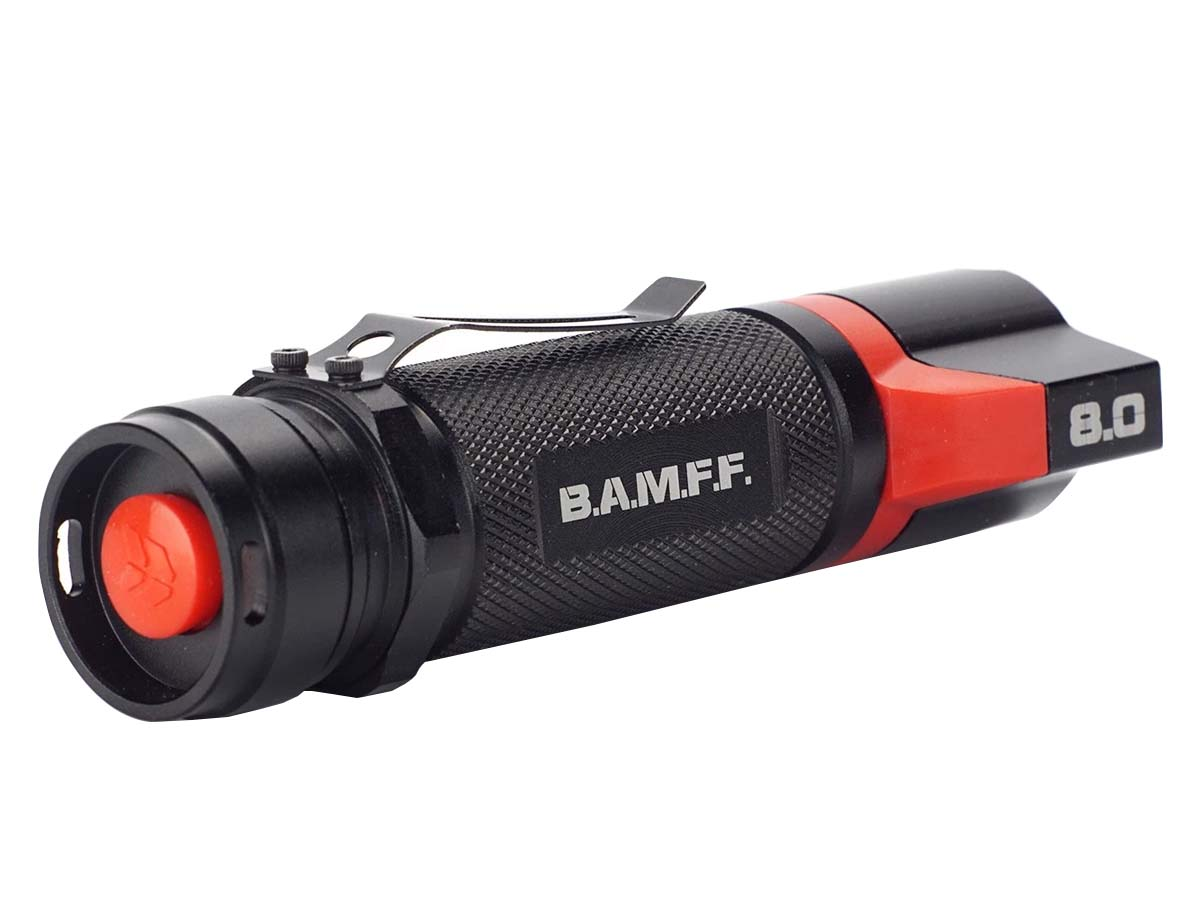 Striker BAMFF 8.0 Flashlight Tailcap Reverse View
