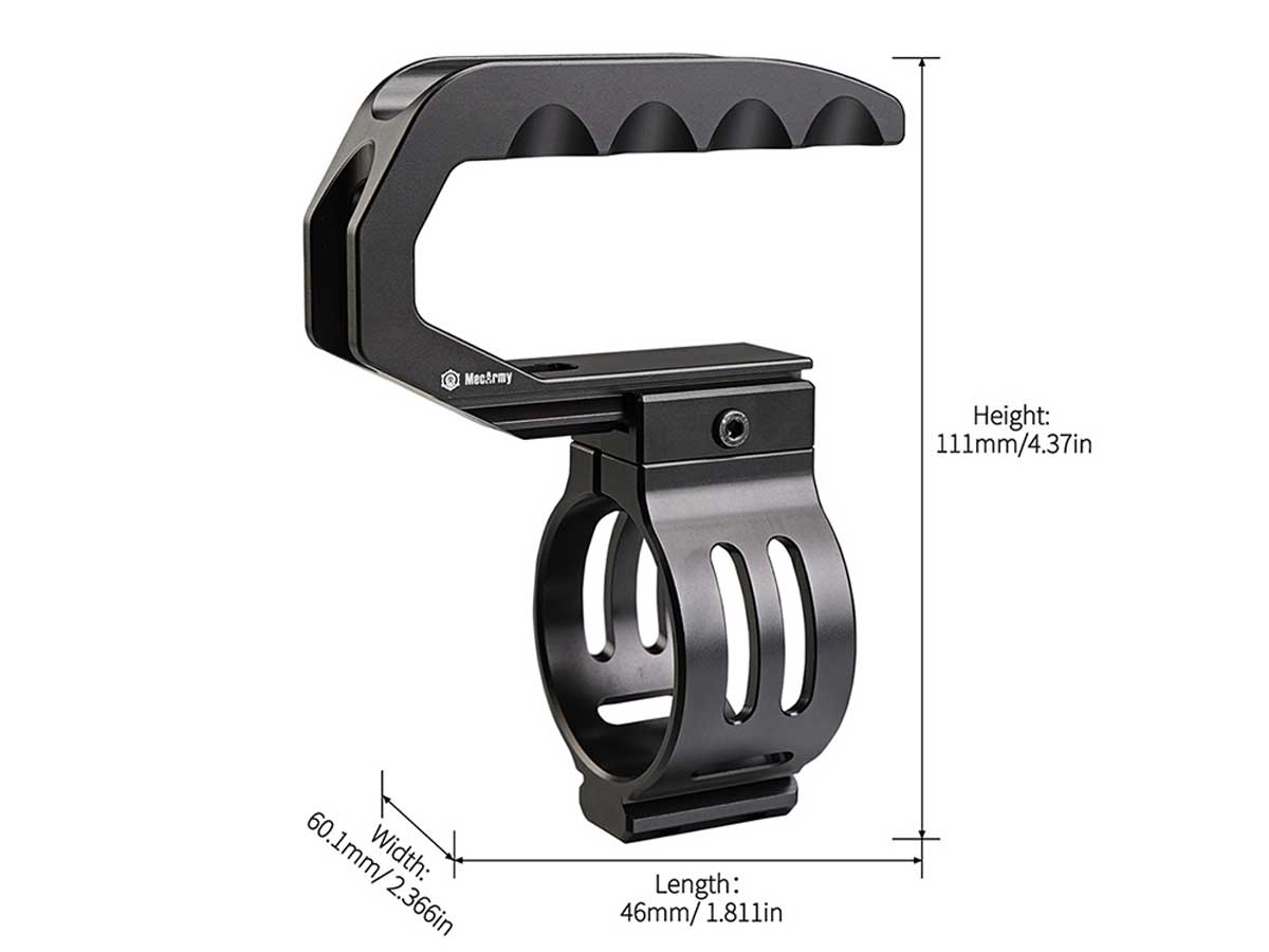 MecArmy CL52 flashlight handle with specs