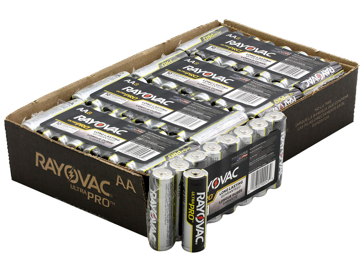 All Packaging for the Rayovac Ultra Pro AL-AA