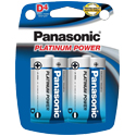 Panasonic Platinum Power LR20XP-4B D-cell 1.5V Alkaline Button Top Batteries - 4-Pack Retail Card