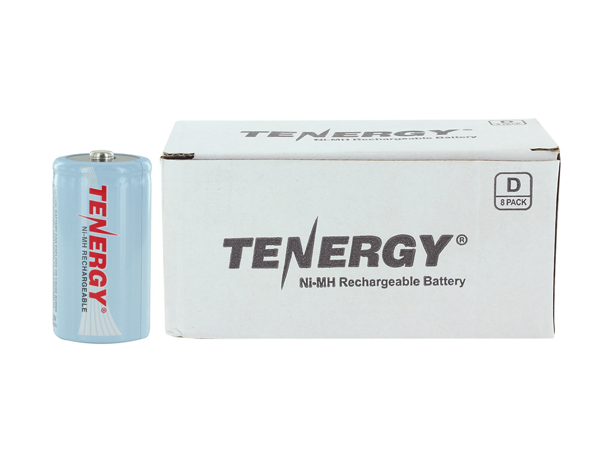 Tenergy 10100 D batteries next to Tenergy box