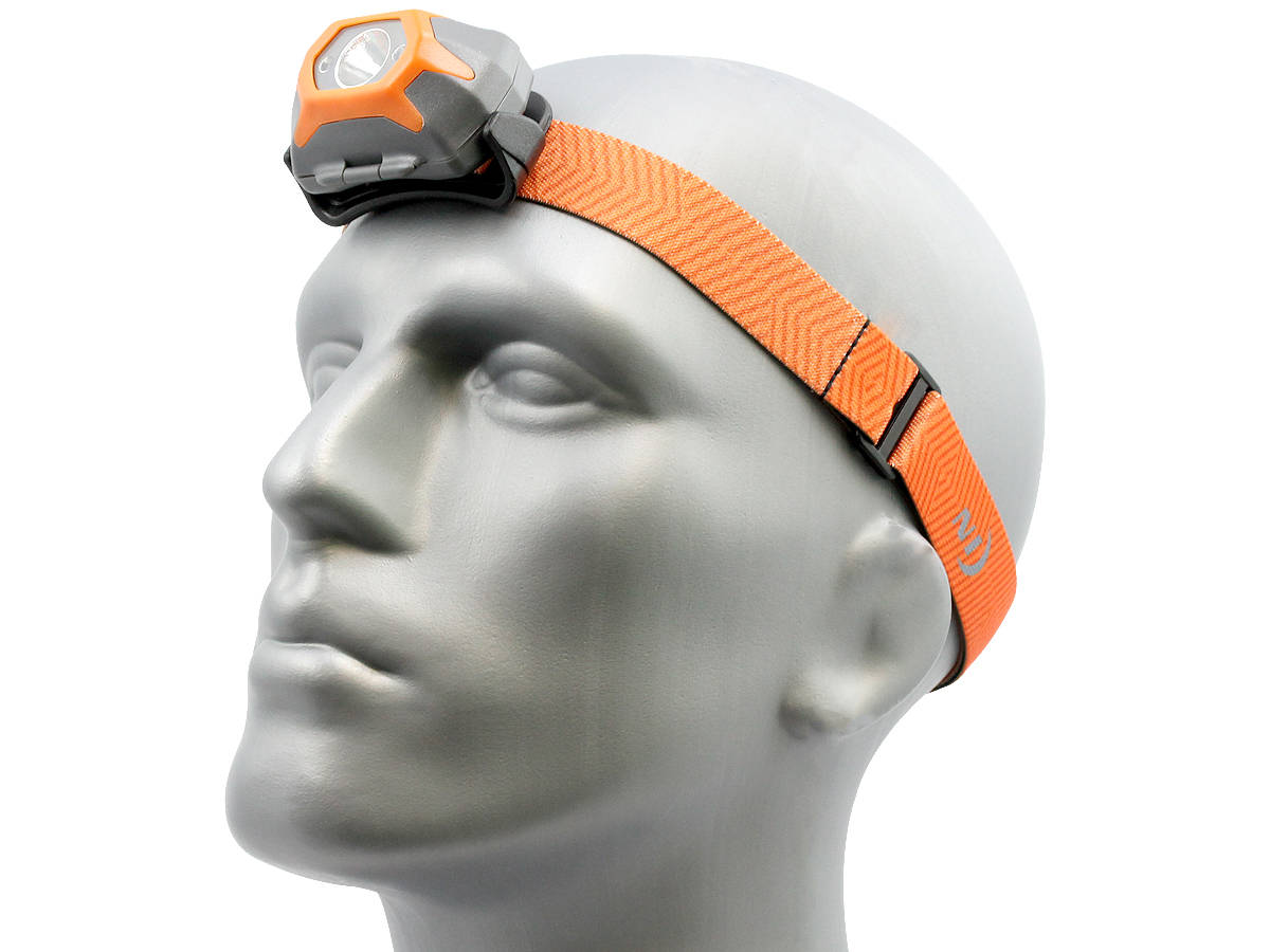 Angle Shot of the Inova STS Headlamp - Orange Version