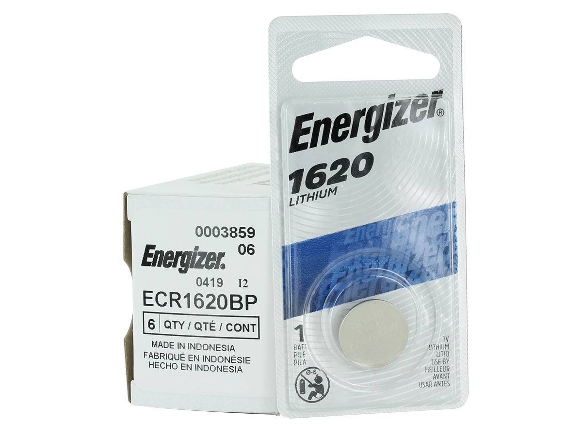 energizer ecr1620 blister pack and bulk box behind it
