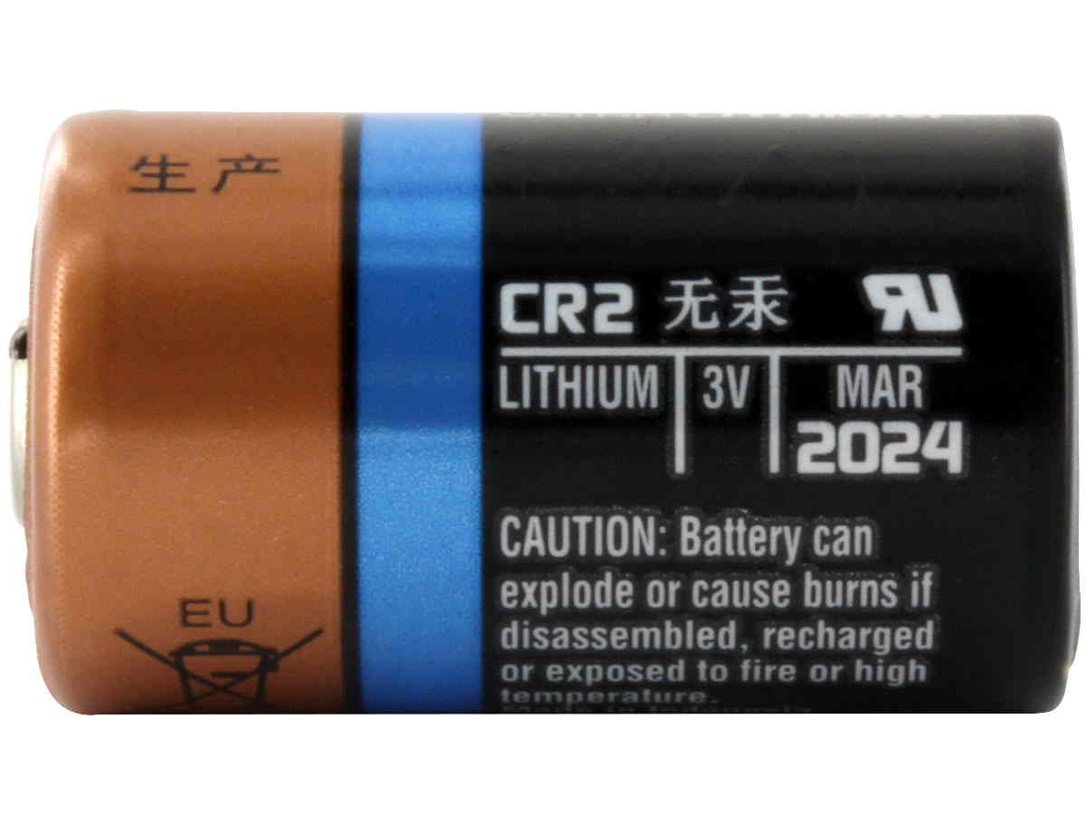 Duracell Ultra CR2 battery side profile