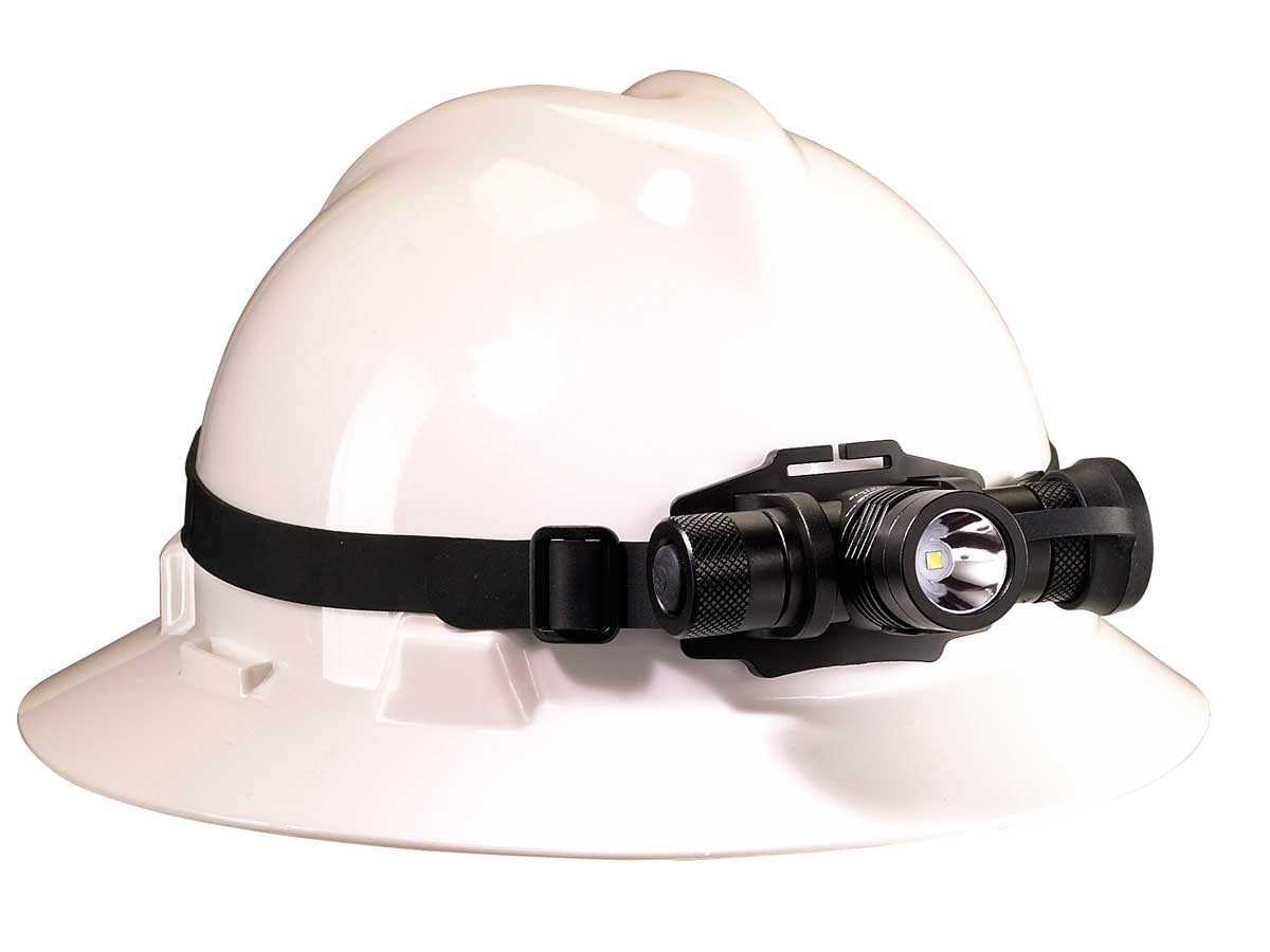 rubber strap on a headlamp