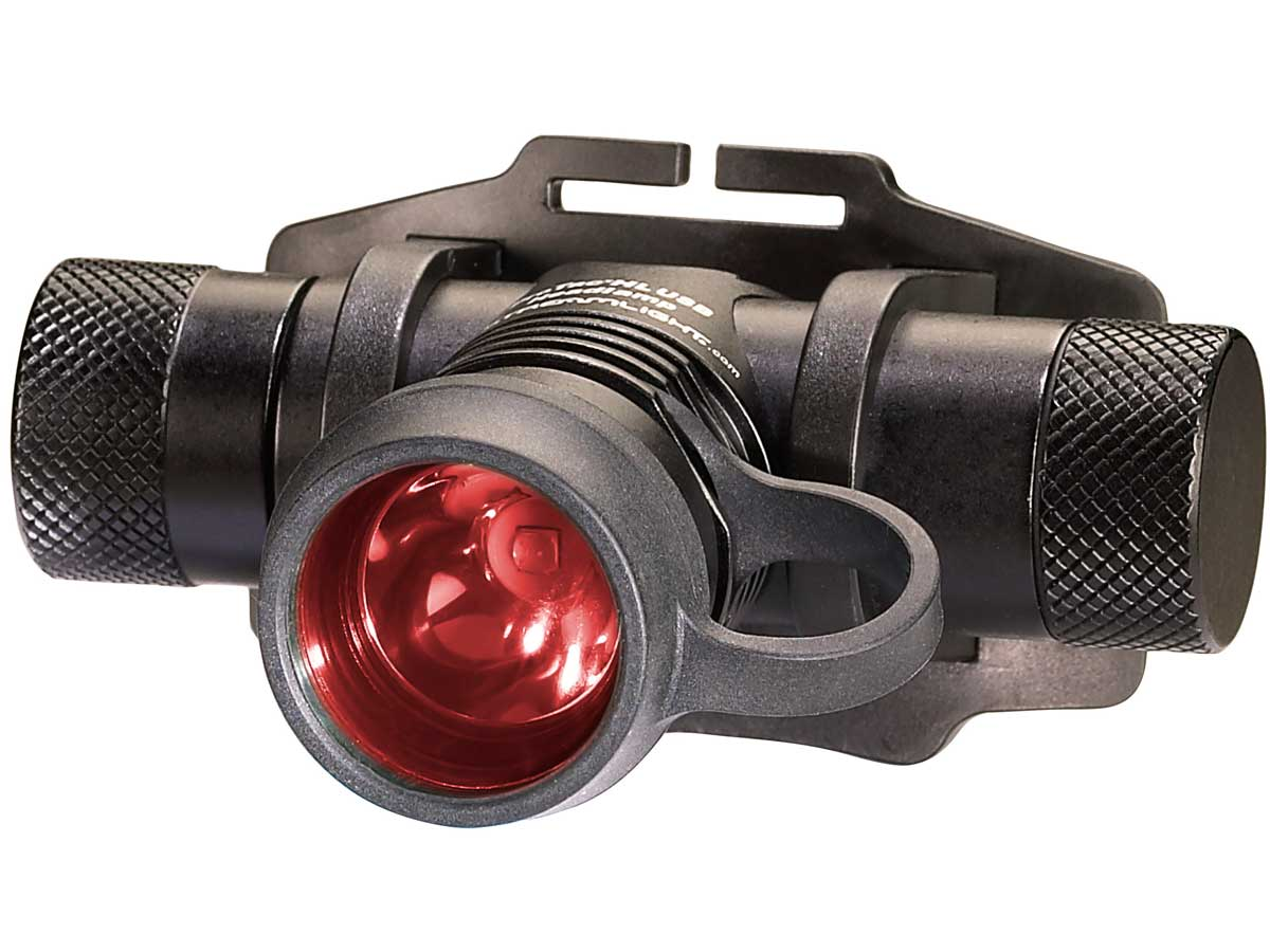 Headlamp with the red filter