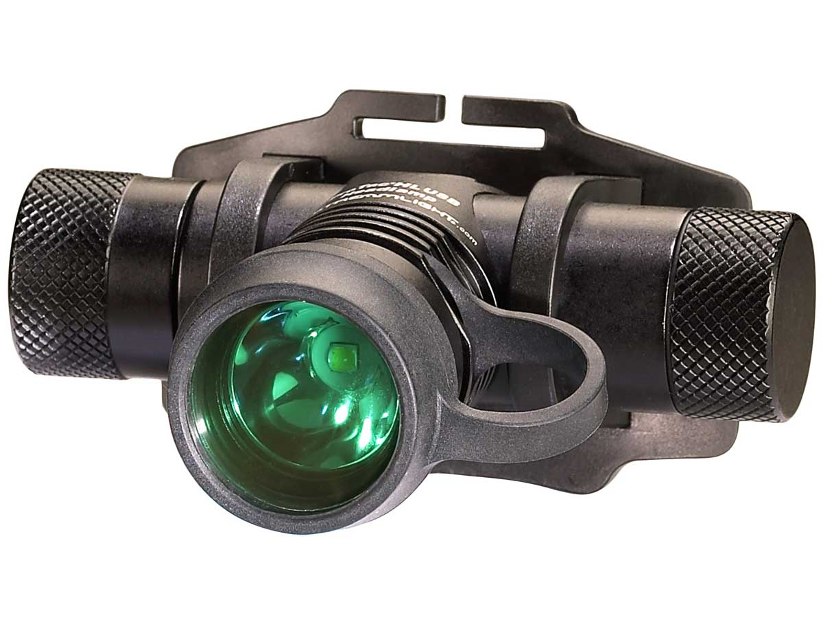 Green filter on the headlamp