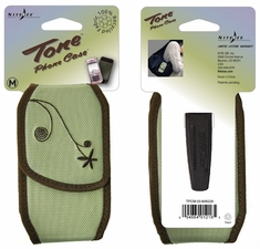 Nite Ize Tone Cell Phone Holster with Magnetic Closure - Medium - Embroidered Sage (TPCM-03-MAG28)
