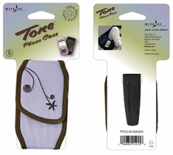 Nite Ize Tone Cell Phone Holster with Magnetic Closure - Small - Embroidered Lavender (TPCS-03-MAG23)