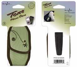 Nite Ize Tone Cell Phone Holster with Magnetic Closure - Small - Embroidered Sage (TPCS-03-MAG28)