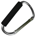 Ultimate Survival Technologies CarryBiner Carabiner Clip with Rubber Grip - Silver (20-02114-02)