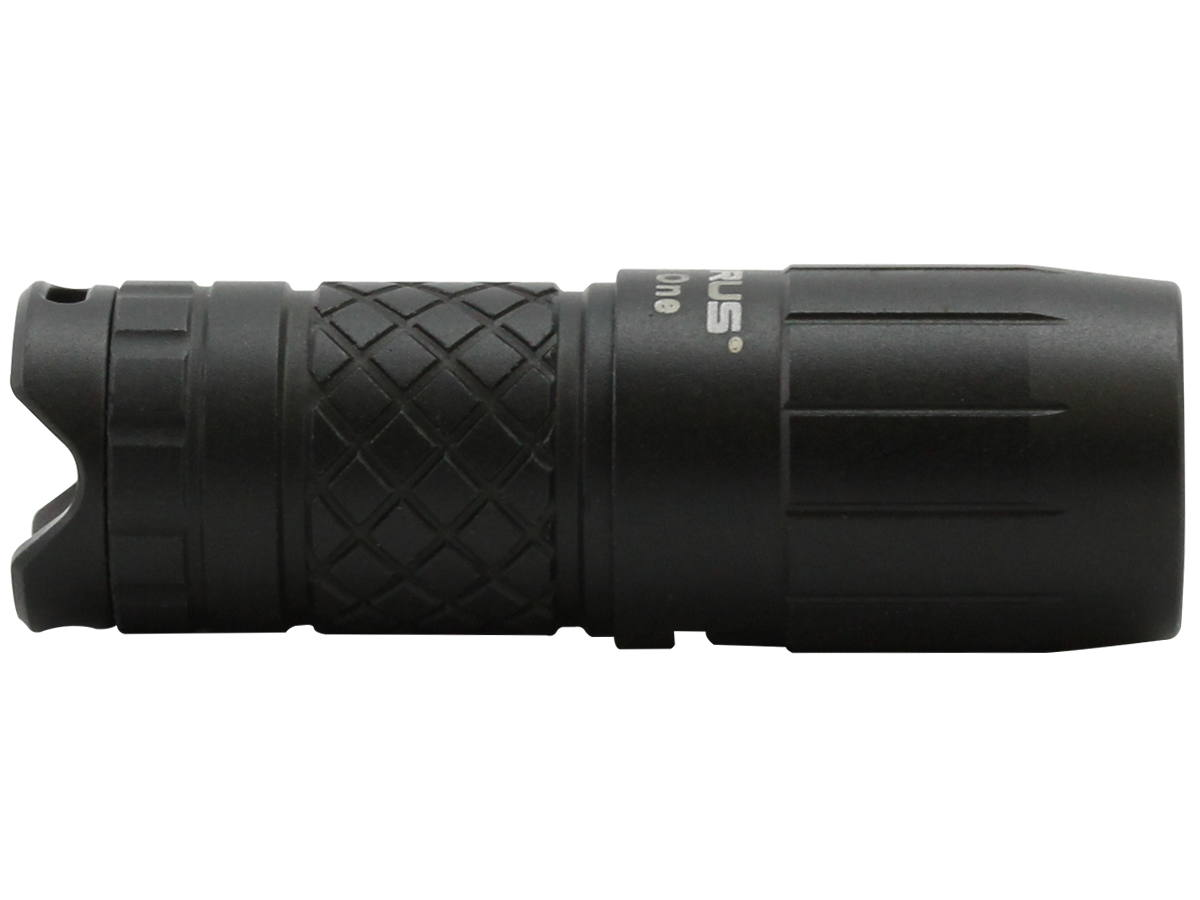 Horizontal Shot of the Black-Colored Flashlight