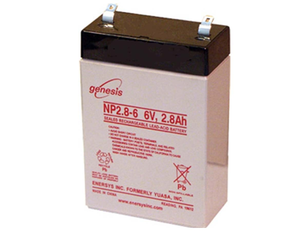 Enersys NP2.8-6 2.8Ah 6V Rechargeable Sealed Lead Acid (SLA) Battery - F1 Terminal