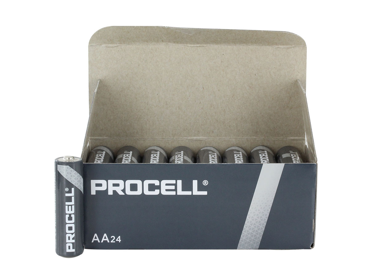 Open Box of 24 Batteries