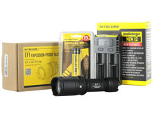 Nitecore EF1 Explosion-Proof Flashlight Combo - CREE XM-L2 U3 LED - 830 Lumens - With Battery and Charger