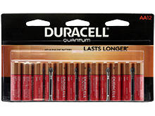 Duracell Quantum QU1500-B12Z11 AA 1.5V Alkaline Button Top Batteries - 12 Piece Retail Card