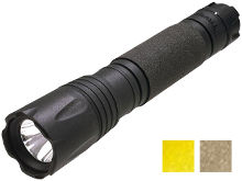 ASP Poly DF Rechargeable LED Flashlight - CREE XP-G LED - 440 Lumens - Uses 1 x 18650 (Included) or 2 x CR123A - Available in Black, Coyote Tan, or Yellow