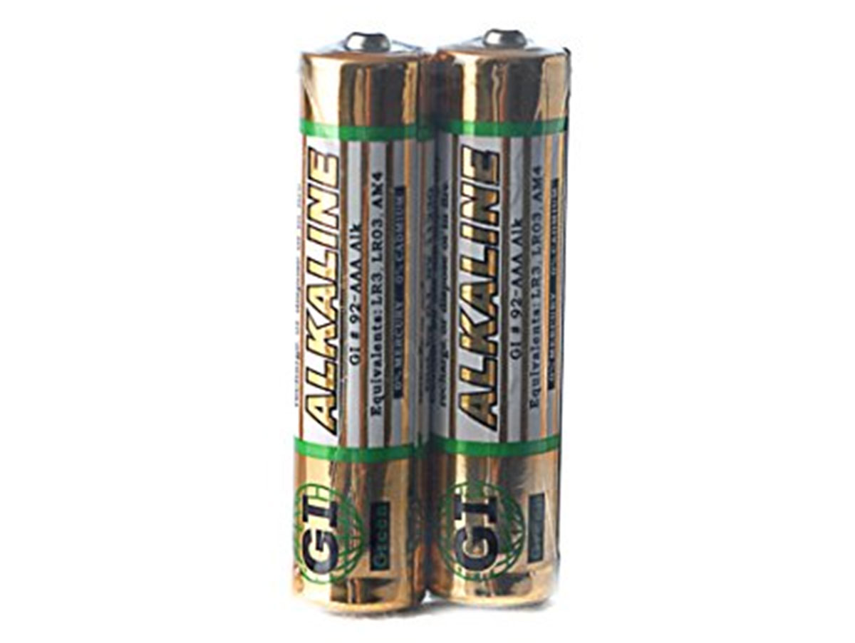 GI AAA Batteries with Shrink-Wrap Packaging