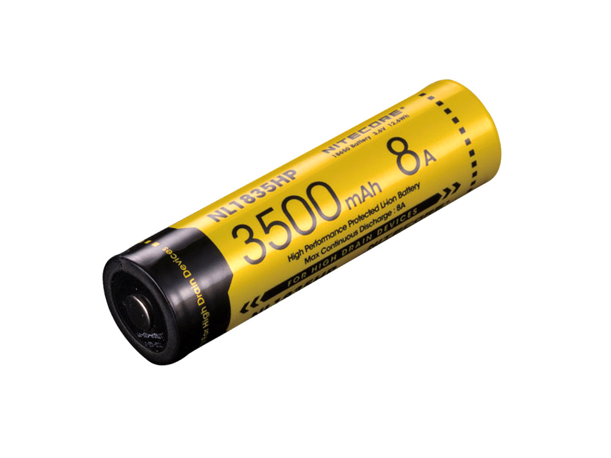 Angle Shot of the Nitecore NL1835HP 18650