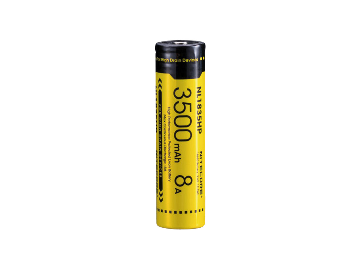 Standing Shot of the Nitecore NL1835HP 18650