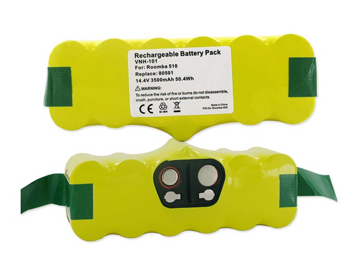 Top and bottom view of the battery pack