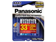 Panasonic Platinum Power LR03XE-4B AAA 1.5V Alkaline Button Top Batteries - 4-Pack Retail Card