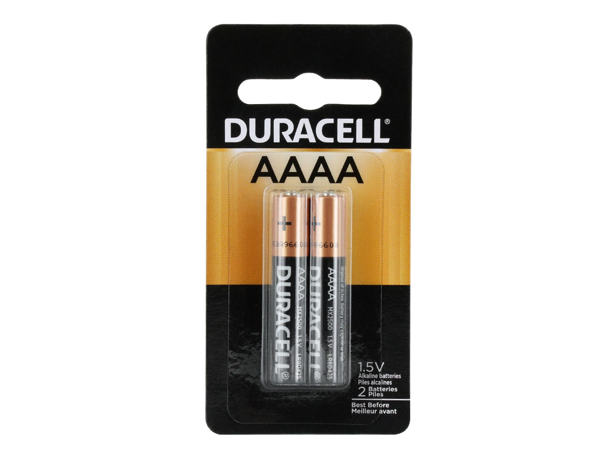 2-Piece Retail Card of Duracell MX2500 AAAA Batteries