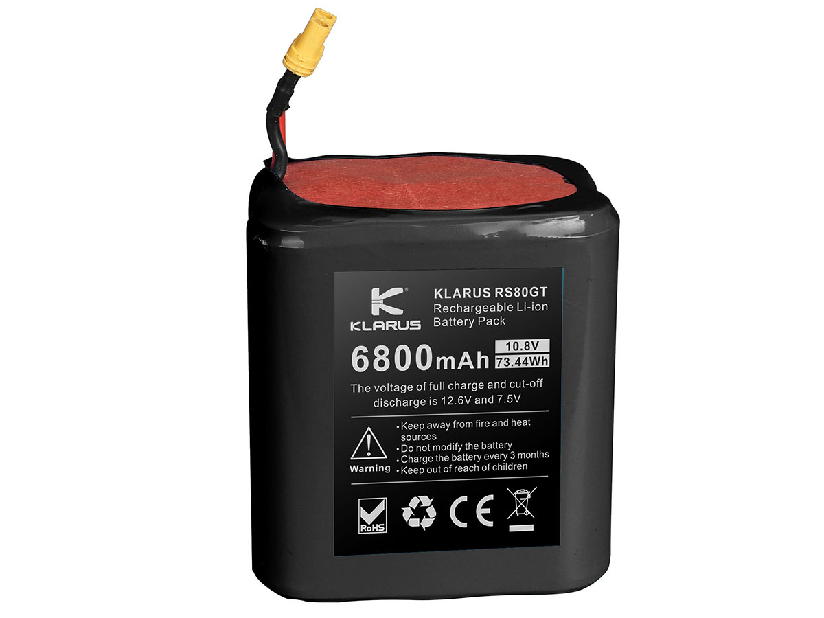 Klarus RS80GT Replacement Battery Pack front view