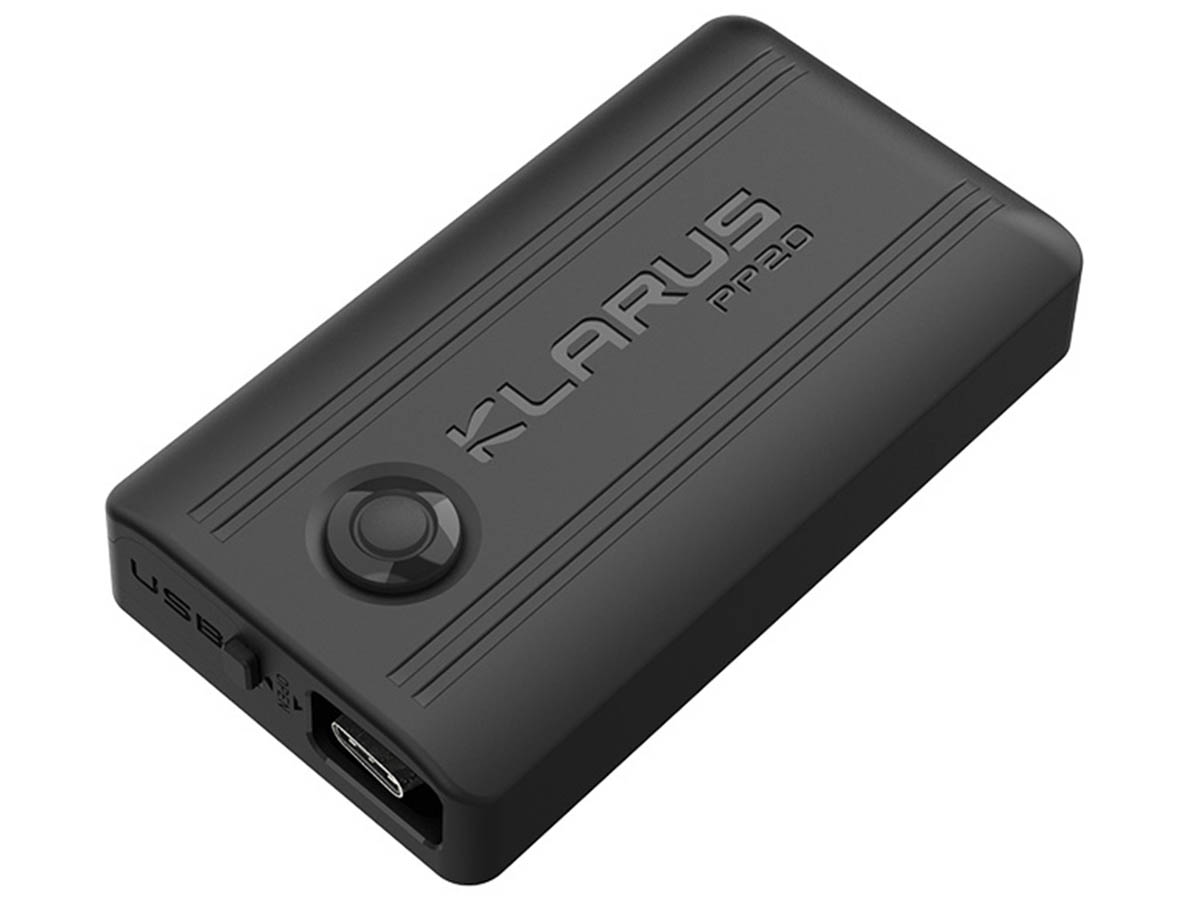 Klarus PP20 battery pack left side angle