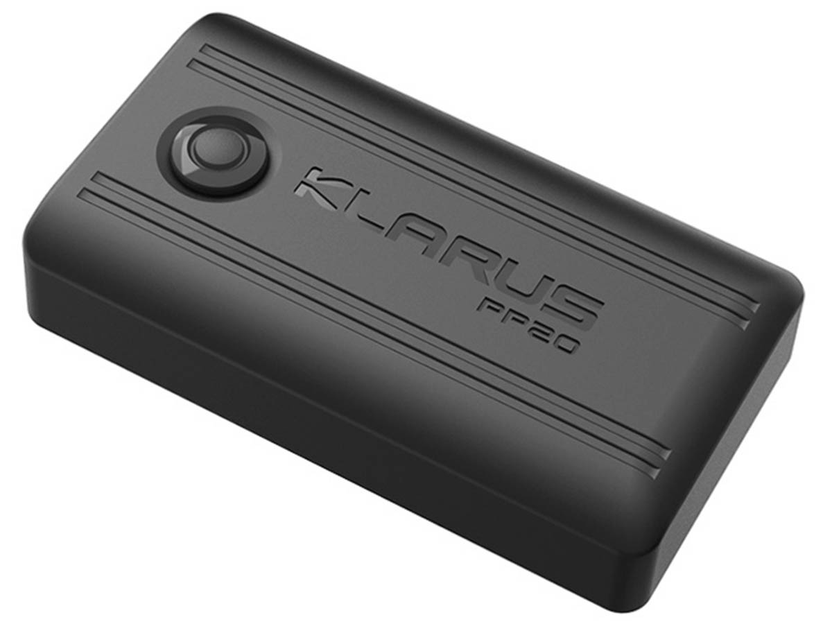 Klarus PP20 battery pack right side angle