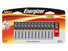 Energizer Max E92-BP-24 AAA 1.5V Alkaline Button Top Batteries - 24 Piece Retail Card